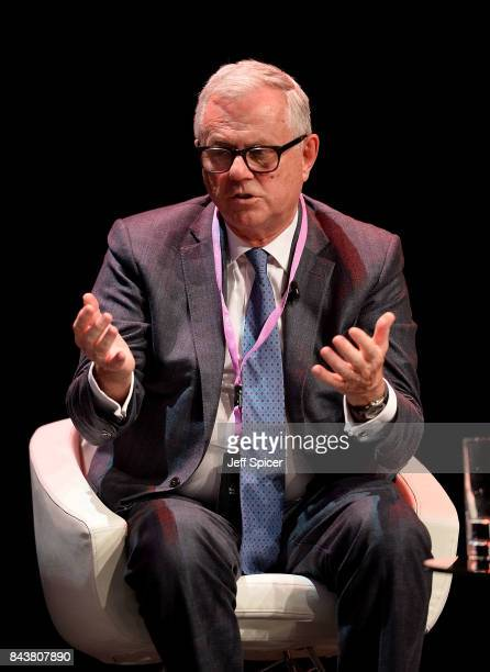 Mike Rann speaks at the Technology with Heart Jaguar Land Rover's Tech Fest at Central St Martins on September 7 2017 in London England