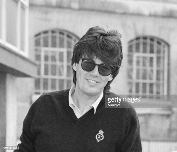 Mike Read BBC Radio Disc Jockey seen here on crutches 25th June 1988