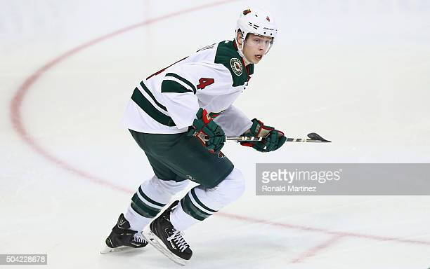 Mike Reilly of the Minnesota Wild in the third period at American Airlines Center on January 9 2016 in Dallas Texas