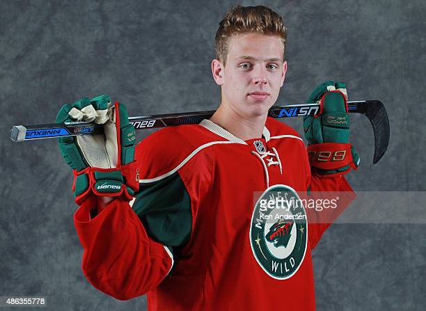 Mike Reilly of the Minnesota Wild poses for an NHLPA Rookie Showcase portrait at the Westin Harbour Castle on August 312015 in Toronto Ontario Canada