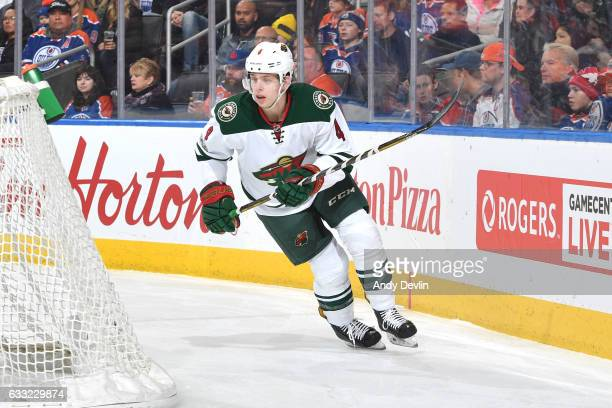 Mike Reilly of the Minnesota Wild skates during the game against the Edmonton Oilers on January 31 2017 at Rogers Place in Edmonton Alberta Canada