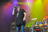 Mike Reno and Matt Frenette of Loverboy perform in concert at the Cedar Park Center on October 22 2015 in Cedar Park Texas