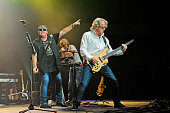 Mike Reno Doug Johnson and Ken Sinnaeve of Loverboy perform in concert at the Cedar Park Center on October 22 2015 in Cedar Park Texas