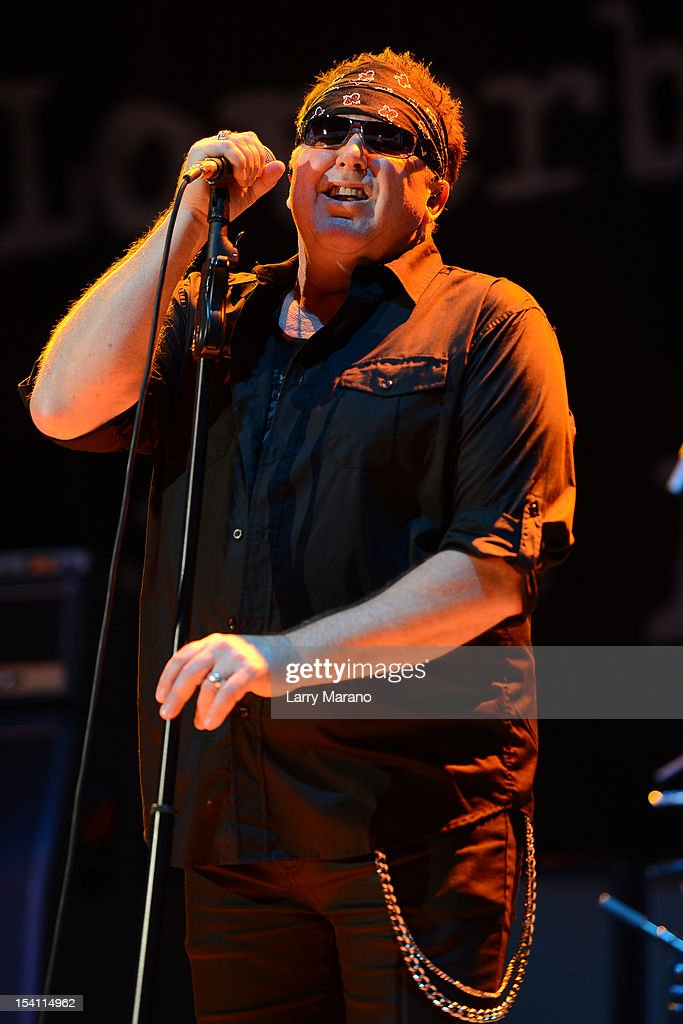 Mike Reno of Loverboy performs at Cruzan Amphitheatre on October 13, 2012 in West Palm Beach, Florida.