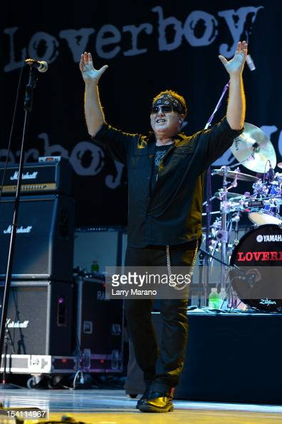 Mike Reno of Loverboy performs at Cruzan Amphitheatre on October 13 2012 in West Palm Beach Florida