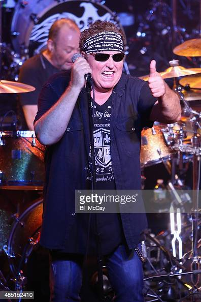 Mike Reno of Loverboy performs at the Rick Springfield With Special Guest Loverboy Performs Private Concert for SiriusXM Subscribers at the Theatre...