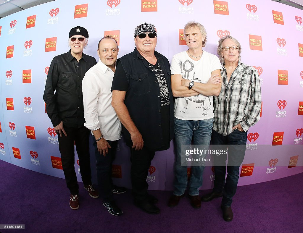 Mike Reno Paul Dean Doug Johnson Matt Frenette and Ken Sinnaeve of Loverboy arrive at the iHeart80s Party 2016 held at The Forum on February 20 2016...