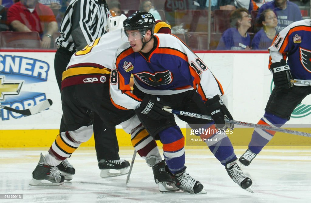 Mike Richards of the Philadelphia Phantoms skates against the Chicago Wolves in the American Hockey League Calder Cup final game at the Wachovia...