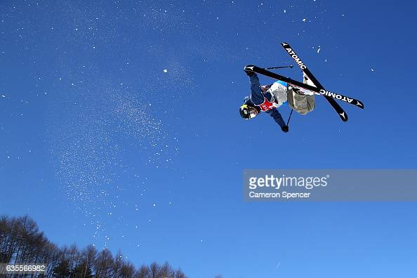 Mike Riddle of Canada competes in the FIS Freestyle World Cup Ski Halfpipe Qualification at Bokwang Snow Park on February 16 2017 in Pyeongchanggun...