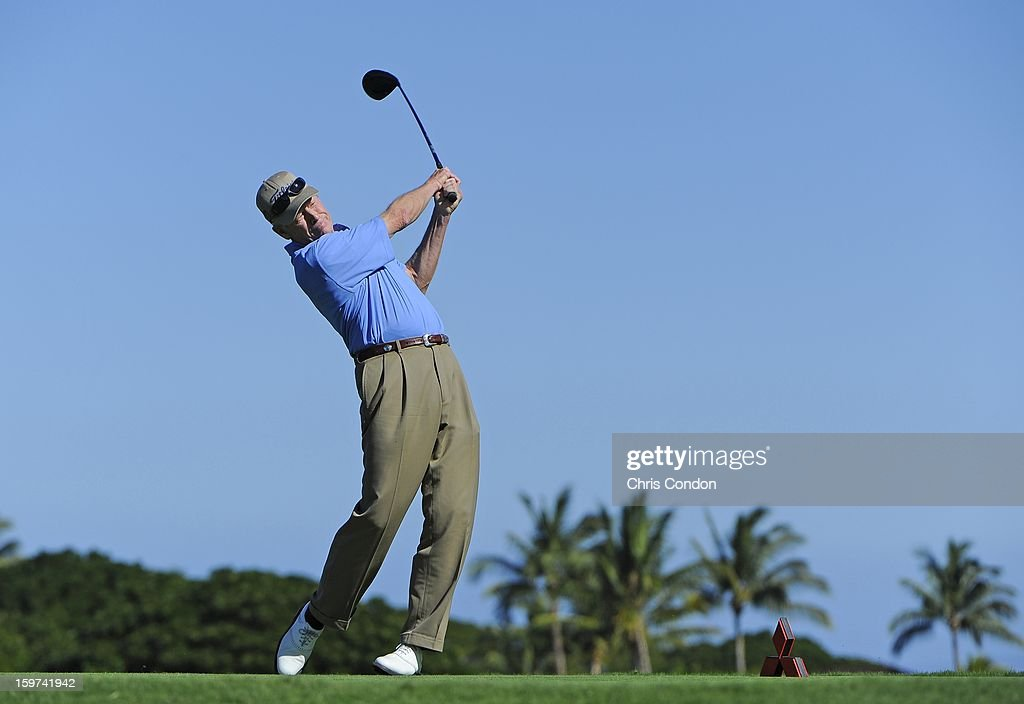 Mike Ried plays from the second tee during the second round of the Mitsubishi Electric Championship at Hualalai Golf Club on January 19, 2013 in Ka'upulehu-Kona, Hawaii.