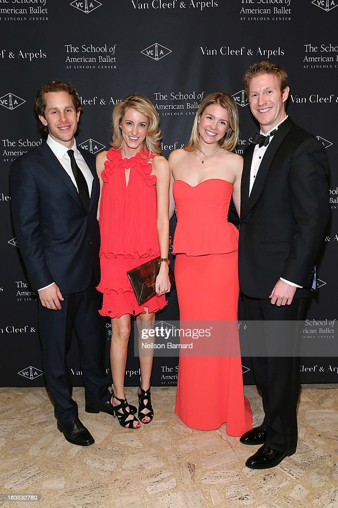Mike Roberts, Alexandra Martin, Paige Hoodruff and Daniel Neczypor attend the after party for the School of American Ballet 2013 Winter Ball at David H. Koch Theater, Lincoln Center on March 11, 2013 in New York City.