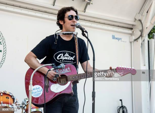 Mike Rocket performs at the RocklandBergen Music Festival at German Masonic Park on June 24 2017 in Tappan New York