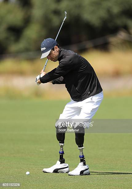 Mike Rolls plays a shot on ProAm Day ahead of the World Cup of Golf at Kingston Heath Golf Club on November 23 2016 in Melbourne Australia At the age...
