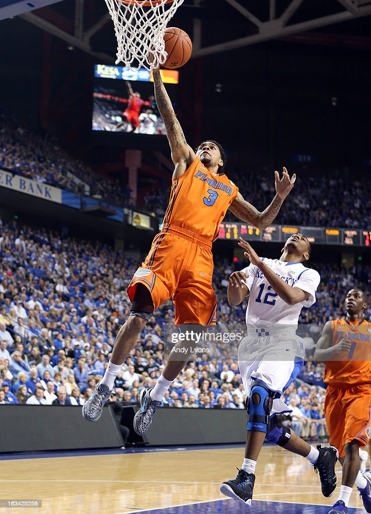 Mike Rosario #3 of the Florida Gators shoots the ball during the game against the Kentucky Wildcats at Rupp Arena on March 9, 2013 in Lexington, Kentucky.