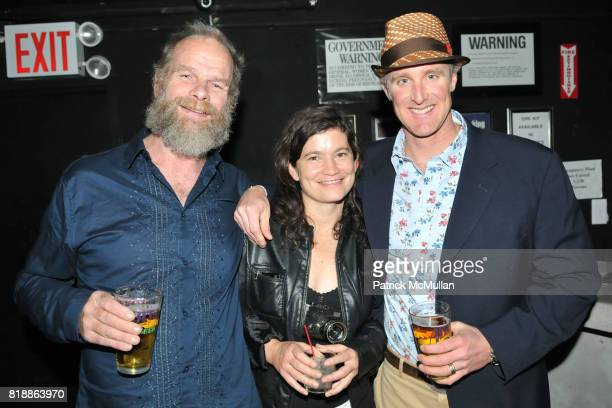 Mike Roselle Antrim Caskey and David Haynes attend RAINFOREST ACTION NETWORK's 25th Anniversary Benefit Hosted by CHRIS NOTH at Le Poisson Rouge on...