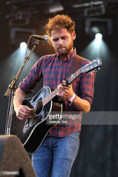 Mike Rosenberg aka Passenger performs at day two of Pinkpop Festival at Megaland on June 15 2013 in Landgraaf Netherlands