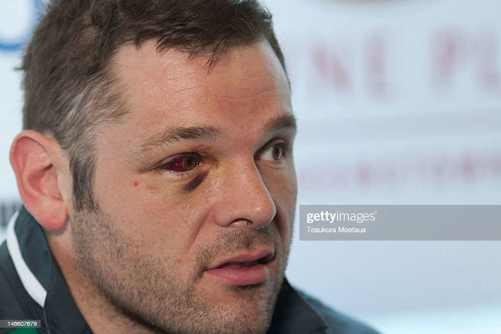 Mike Ross looks on during the Ireland rugby team announcement at the Crowne Plaza Hotel on June 21, 2012 in Queenstown, New Zealand.
