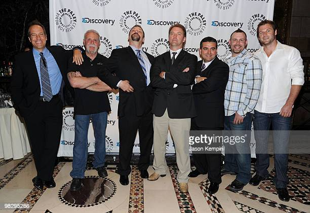 Mike Rowe Paul Teutel Sr Jonathan Hillstrand Andy Hillstrand John S Hendricks Buddy Valastro Paul Teutul Jr and Dave Salmoni attend the Paley Center...