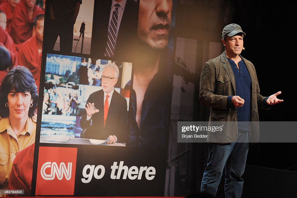 Mike Rowe speaks onstage at the CNN Upfront 2014 at Skylight Modern on April 10, 2014 in New York City. 24679_002_0163.JPG