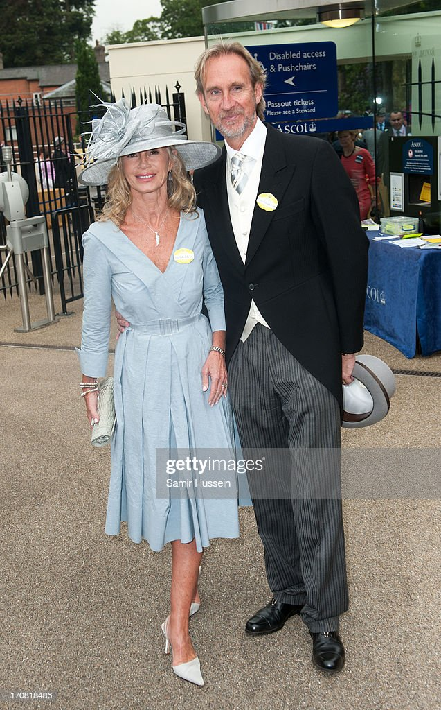 Mike Rutherford and Angie Rutherford attend day 1 of Royal Ascot at Ascot Racecourse on June 18, 2013 in Ascot, England.