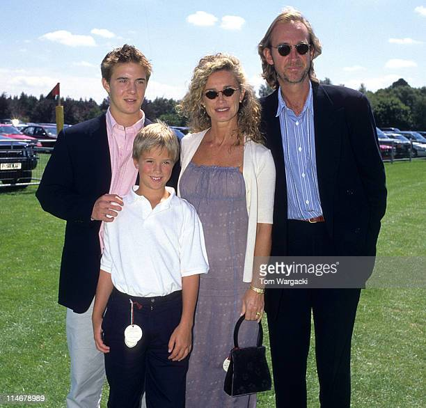 Mike Rutherford and Family during Mike Rutherford and Family at the Cartier Polo in 1997 in Windsor Great Britain