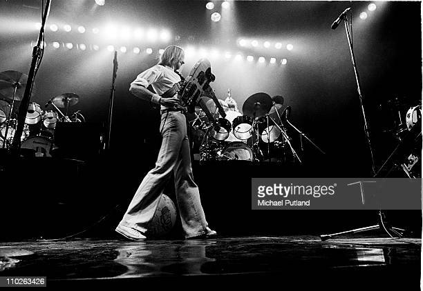 Mike Rutherford of Genesis performs on stage New York 1977