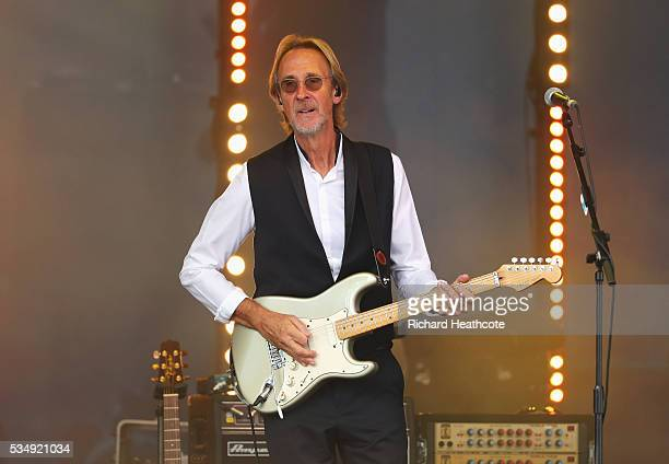 Mike Rutherford of Mike and The Mechanics performs after day three of the BMW PGA Championship at Wentworth on May 28 2016 in Virginia Water England