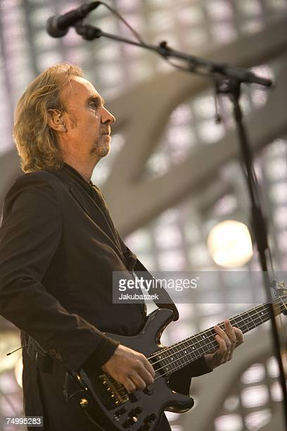 Mike Rutherford of the reunited band Genesis performs during a concert at the Olympiastadion on July 03 2007 in Berlin Germany The concert is part of...