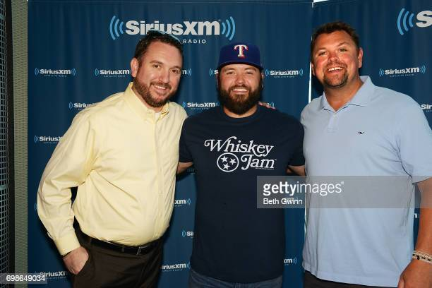 Mike Ryan Visits the SiriusXM Studios with Xirius XM Host Storme Warren at SiriusXM Studios on June 20 2017 in Nashville Tennessee
