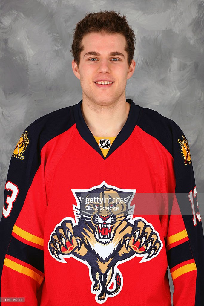 <a gi-track='captionPersonalityLinkClicked' href=/galleries/search?phrase=Mike+Santorelli&family=editorial&specificpeople=4517042 ng-click='$event.stopPropagation()'>Mike Santorelli</a> #13 of the Florida Panthers poses for his official headshot for the 2012-2013 NHL season on January 13, 2013 in Coral Springs, Florida.