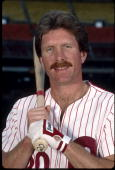 Mike Schmidt of the Philadelphia Phillies poses for a portrait in 1984