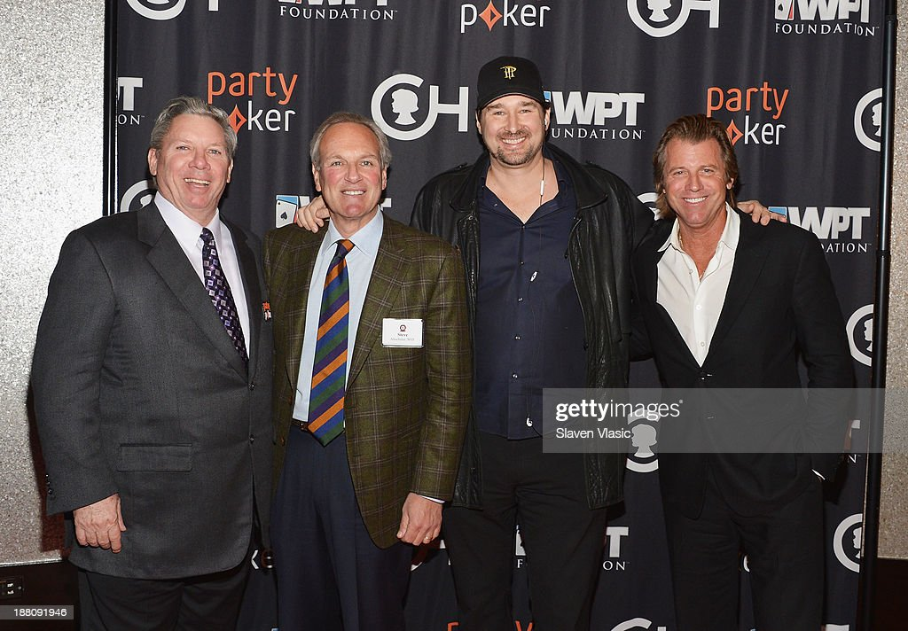 Mike Sexton, Steven M. Altschuler, President and CEO of The Children's Hospital of Philadelphia, <a gi-track='captionPersonalityLinkClicked' href=/galleries/search?phrase=Phil+Hellmuth&family=editorial&specificpeople=810515 ng-click='$event.stopPropagation()'>Phil Hellmuth</a> and Vince Van Patten attend The Children's Hospital Of Philadelphia & World Poker Tour 'All In' For Kids Poker Tournament at Mandarin Oriental Hotel on November 14, 2013 in New York City.