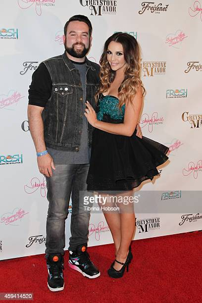 Mike Shay and Scheana Marie attend Bravo TV's Scheana Marie single release party at Greystone Manor on November 21 2014 in West Hollywood California