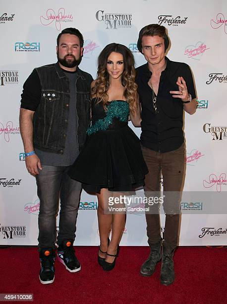 Mike Shay singer / actress Scheana Marie and tv personality James Kennedy attend Scheana Marie's single release party forÊ'Shake That' at Greystone...