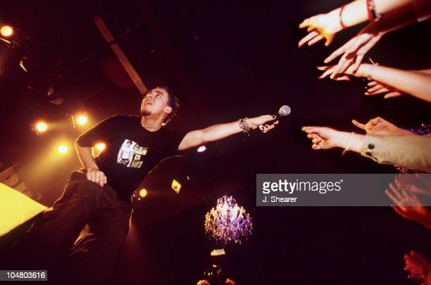 Mike Shinoda of Linkin Park during Linkin Park in Concert at the Fillmore at The Fillmore in San Francisco California United States