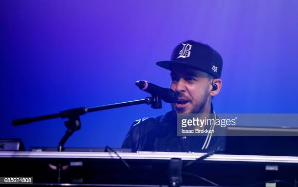 Mike Shinoda of Linkin Park performs during CBS RADIO's twonight 'SPF' concert at The Chelsea inside The Cosmopolitan of Las Vegas on May 19 2017 in...