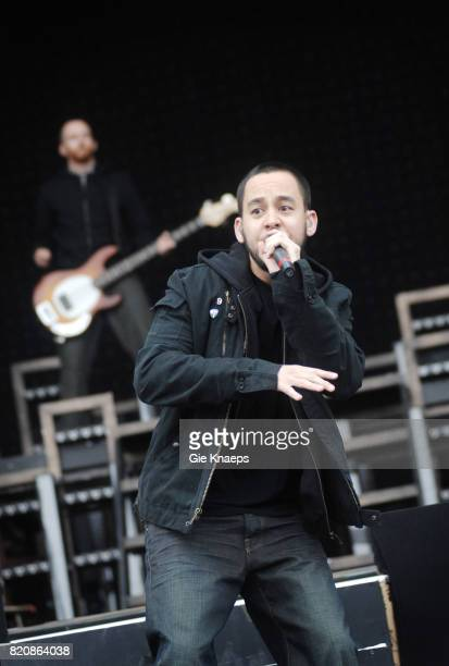 Mike Shinoda performing with American rock group Linkin Park at the Pinkpop Festival Landgraaf Netherlands 27th May 2007