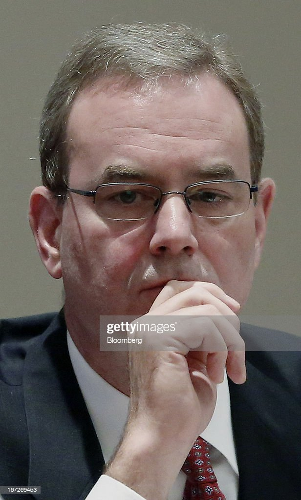 Mike Sinnett, vice president at Boeing Commercial Airplanes and chief project engineer of the 787 program, pauses while testifying during a hearing at the National Traffic Safety Board (NTSB) in Washington, D.C., U.S., on Tuesday, April 23, 2013. Boeing Co. has begun repairs on the 787 Dreamliner to fix a battery fault that grounded the fleet for three months as it enters talks with airlines to resume deliveries and meet a full-year production target. Photographer: Jonathan Ernst/Bloomberg via Getty Images
