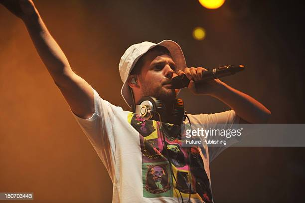 Mike Skinner of British rap/garage band The Streets live on stage at V Festival August 23 Hylands Park