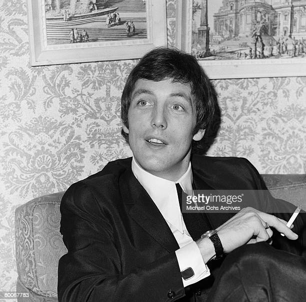 Mike Smith lead singer and keyboard player for the Dave Clark Five relaxes in a hotel before a concert circa 1965 in Los Angeles California