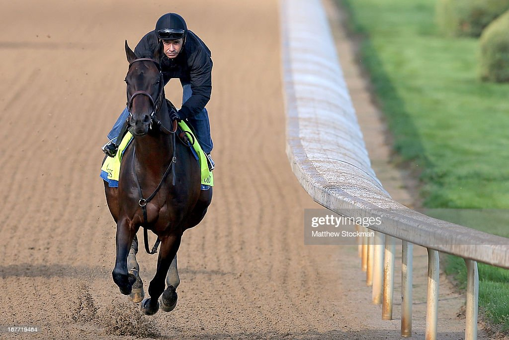 Mike Smith rides Code West during the morning excercise session in preparation for the 139th Kentucky Derby at Churchill Downs on April 28, 2013 in Louisville, Kentucky.