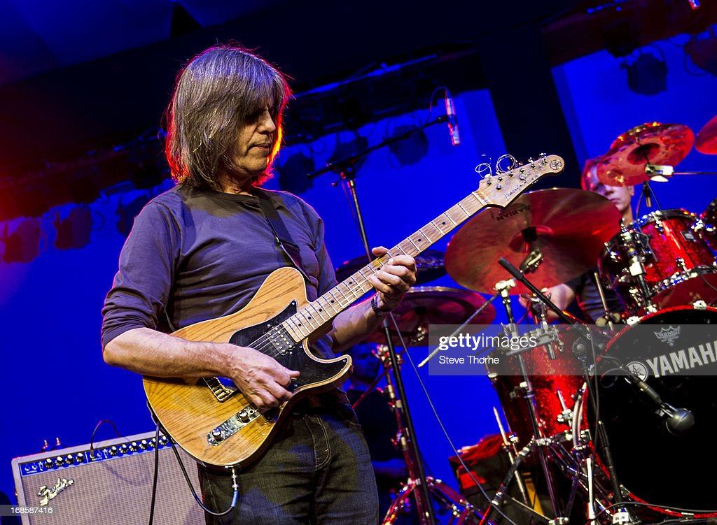 Mike Stern and Dave Weckl perform on stage on Day 5 of Cheltenham Jazz Festival on May 5, 2013 in Cheltenham, England.