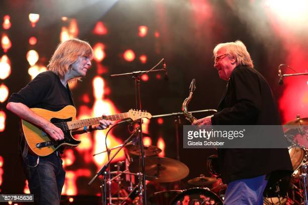 Mike Stern Klaus Doldinger and Man Doki Soulmates perform during the Sziget Festival at Budapest Park on August 8 2017 in Budapest Hungary The Sziget...
