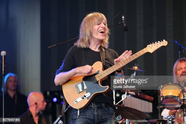 Mike Stern performs at the Man Doki Soulmates concert during the Sziget Festival at Budapest Park on August 8 2017 in Budapest Hungary The Sziget...