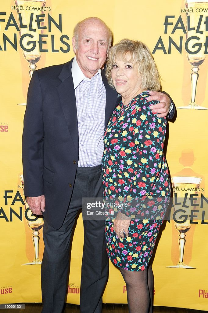 Mike Stoller and his wife Corky Hale Stoller attend the Opening Night Performance of Noel Coward's Fallen Angels at Pasadena Playhouse on February 3, 2013 in Pasadena, California.