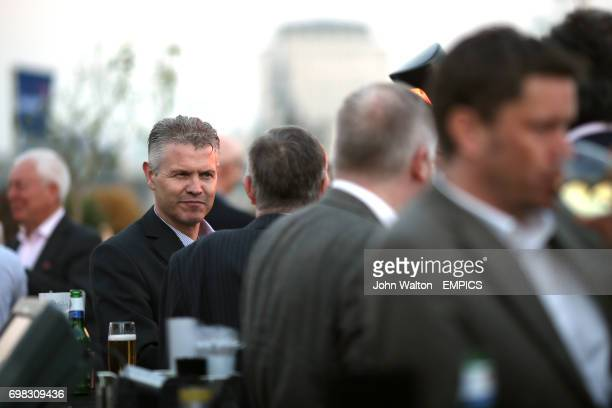 Mike Summers of Prostate Cancer UK during the Football League event at the Vista at the Trafalgar