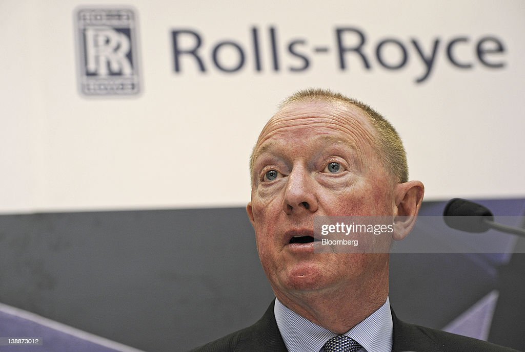 Mike Terrett, chief operating officer of Rolls-Royce Holdings Plc, speaks at a news conference during the launch of the company's new facility in Singapore, on Monday, Feb. 13, 2012. Rolls-Royce plans to build 250 Trent engines a year in Singapore and raise the workforce in the city to 2,000. Photographer: Munshi Ahmed/Bloomberg via Getty Images