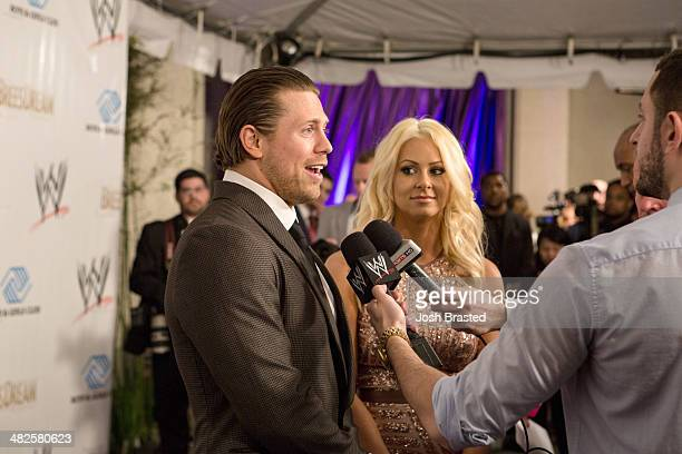 Mike 'The Miz' Mitzanin and Maryse Ouellet attend WWE's 2014 SuperStars For Kids at the New Orleans Museum of Art on April 3 2014 in New Orleans