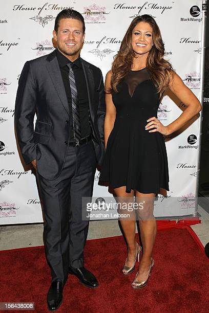 Mike 'The Miz' Mizanin and Eve Torres attend the LA Launch Of Maryse Oulette's Bold New Jewelry Line House Of Maryse wwwhouseofmarysecom on November...