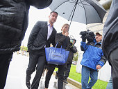Mike 'The Situation' Sorrentino and fiancee Lauren Pesce appear for Sorrentino's arraignment on tax fraud charges at the Martin Luther King Building...